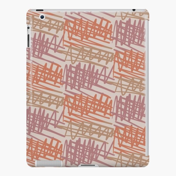 Scribbled Impatience 2 | Neutral Colors Pattern iPad Snap Case