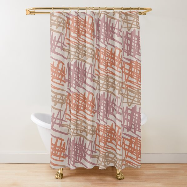 Scribbled Impatience 2 | Neutral Colors Pattern Shower Curtain