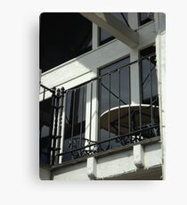 Looking up to the Balcony Canvas Print