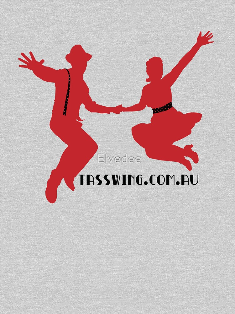 Tasswing Tee - Red silhouette with black and red detailing by Elvedee