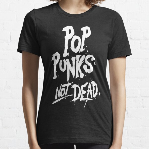 1Tee Womens Punks not Dead Punk Rocker T-Shirt