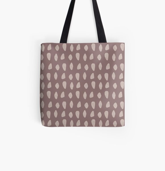 Carnac Stones Earthy Abstract | Pattern All Over Print Tote Bag