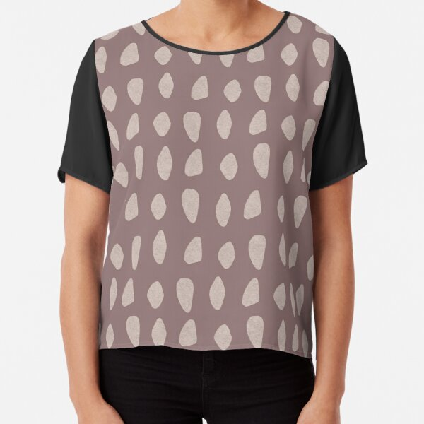 Carnac Stones Earthy Abstract | Pattern Chiffon Top