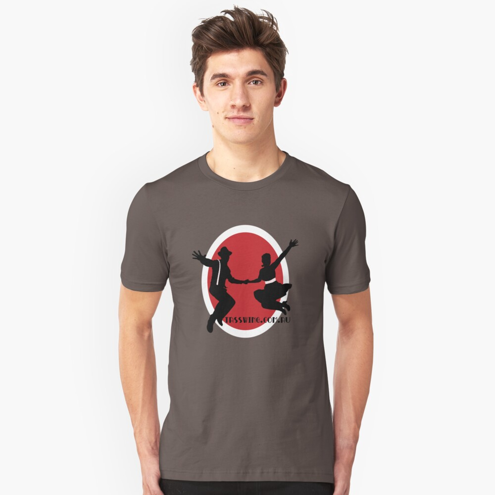 Tasswing Tee - With red & white circle Unisex T-Shirt
