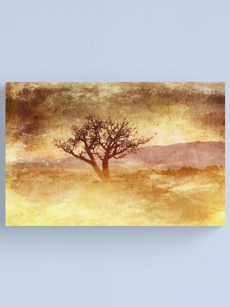 Alternate view of Tree At Dusk in Waikoloa Revisited Canvas Print