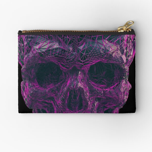 PURPLE SKULL  Zipper Pouch