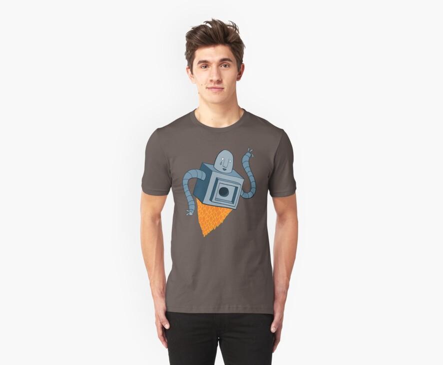 sad robot sails into the void by DiabolickalPLAN
