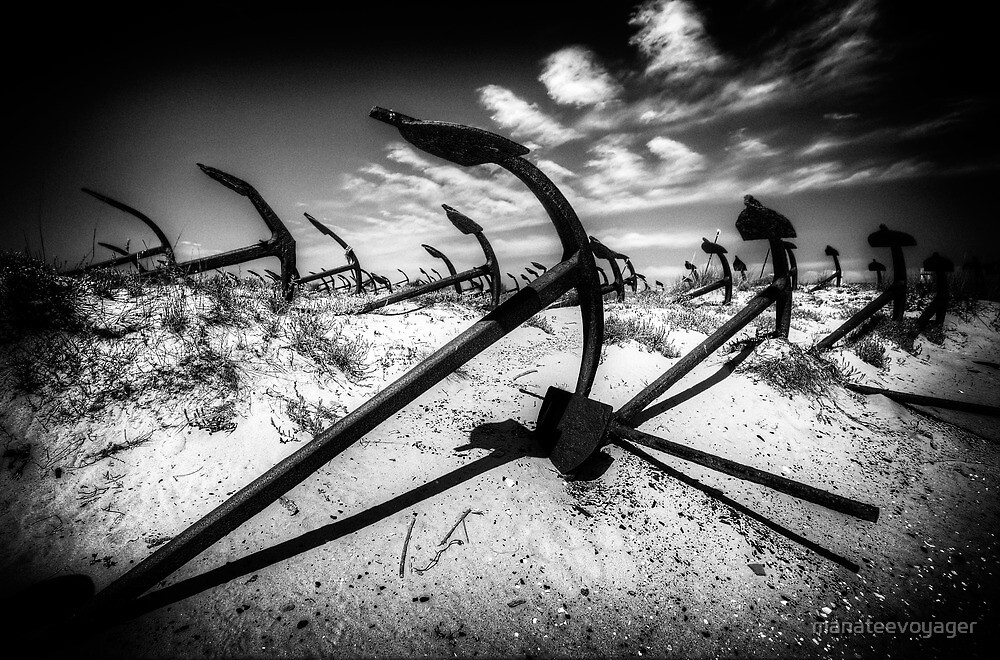 Anchor Cemetery by manateevoyager