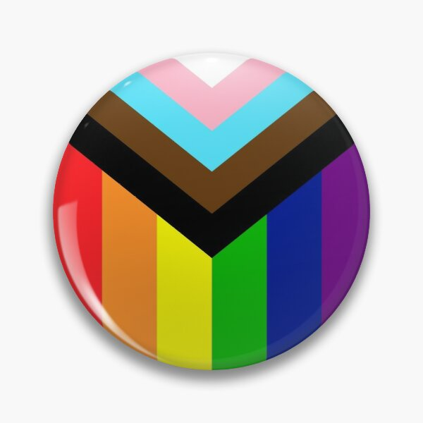 Progressive Rainbow Flag Pride Pin
