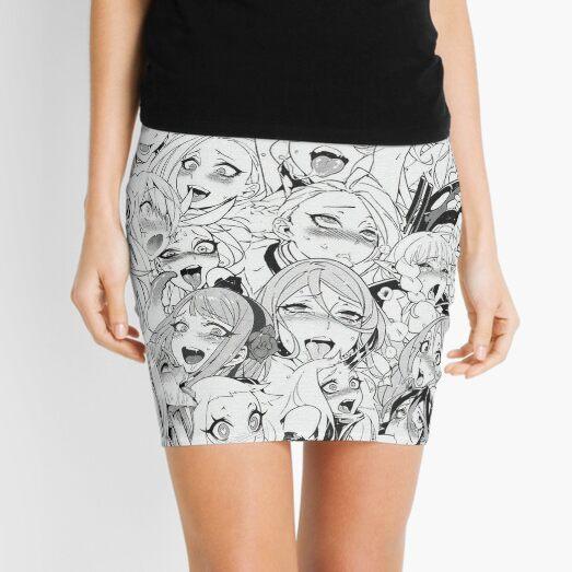 Ahegao Faces Mini Skirt