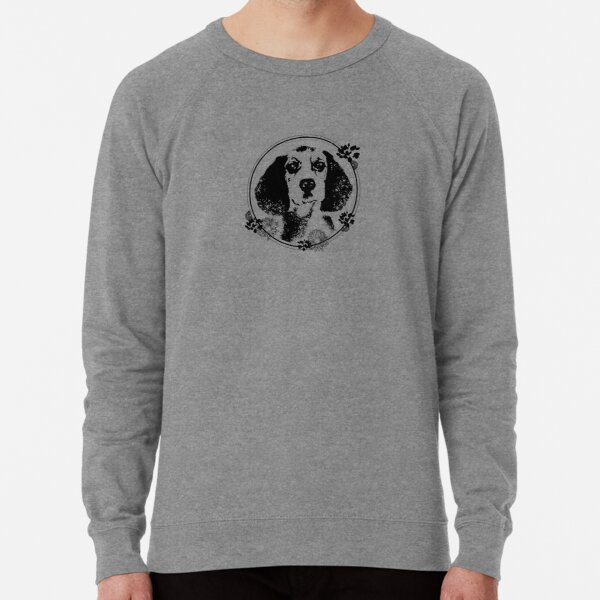 Dog in a circle Lightweight Sweatshirt