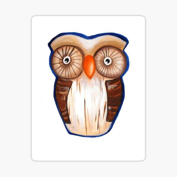 Ula the Wooden Owl Sticker