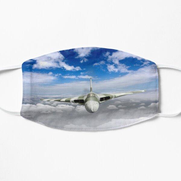 Avro Vulcan head on above clouds Flat Mask