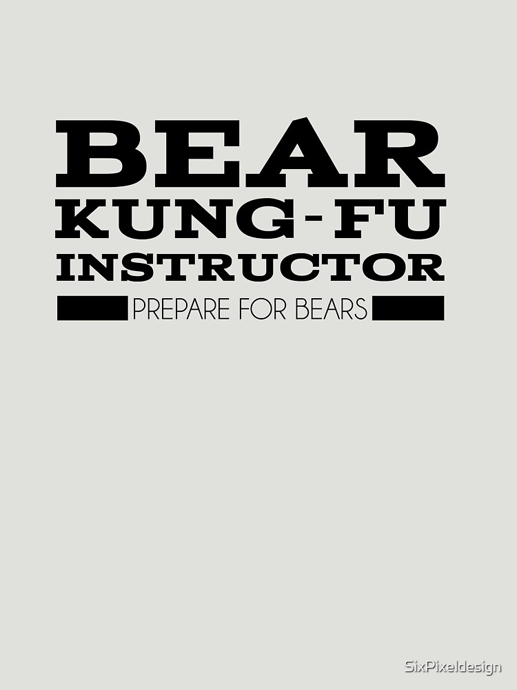 Bear Kung fu instructor by SixPixeldesign