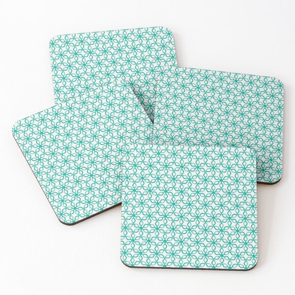 color blue green turquoise Coasters (Set of 4)