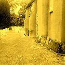 WEST GRINSTEAD CHURCH IN SEPIA by Terry Collett