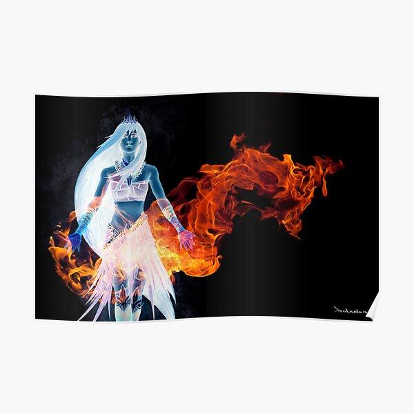 Hawaiian Goddess Black Edition Poster