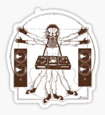 VITRUVIAN ALIEN DJ T-SHIRT #02 Sticker
