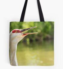 Sandhill Crane Calling Tote Bag
