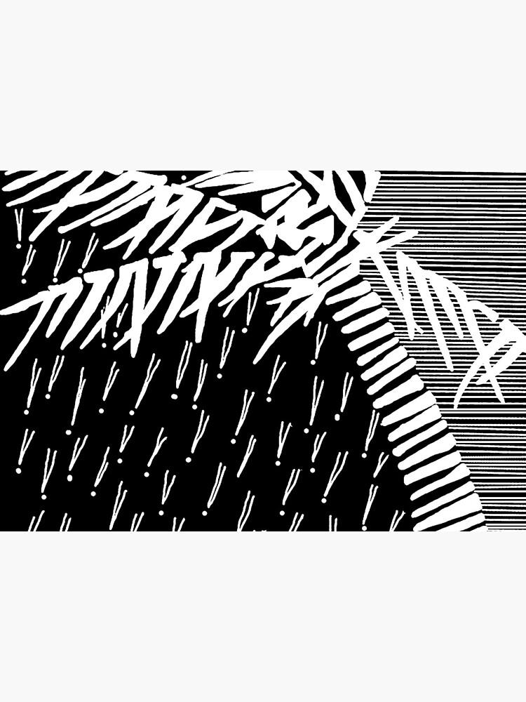 Tropical Rain Prime White on Black by hoxtonboy