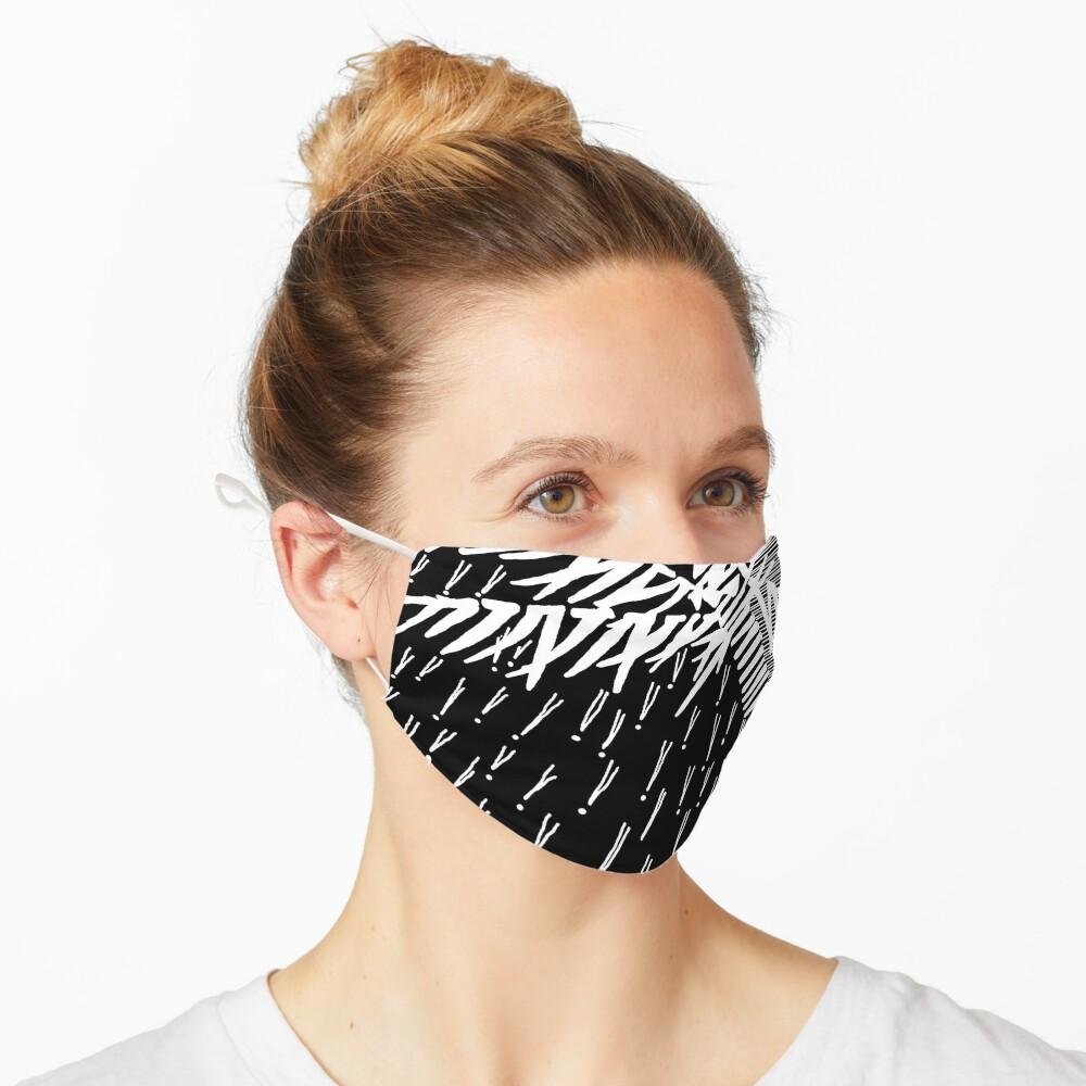 Tropical Rain Prime White on Black Mask