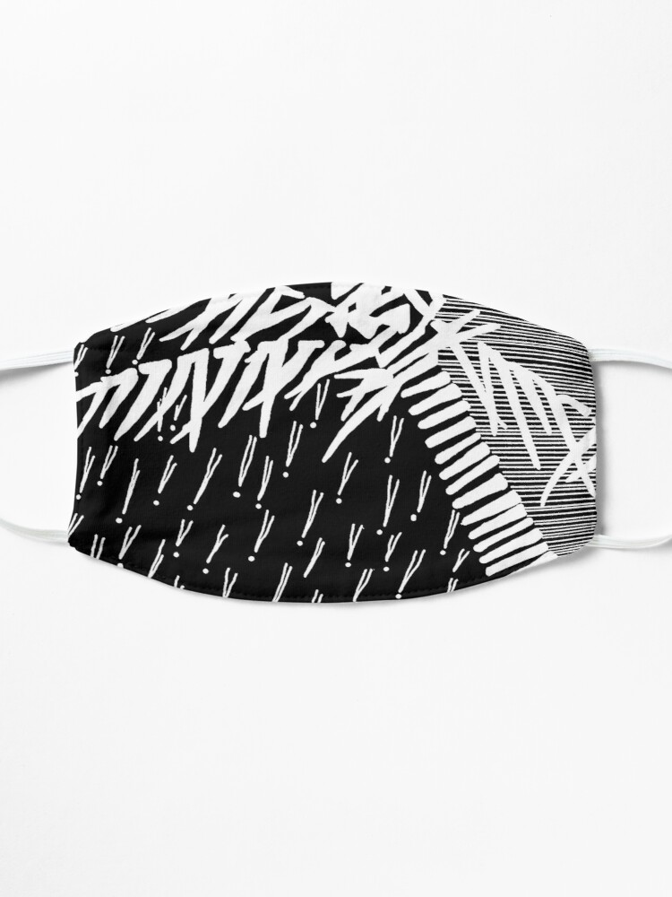 Alternate view of Tropical Rain Prime White on Black Mask