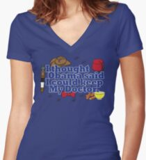 Matt Smith is leaving. Obama lied to us.  Women's Fitted V-Neck T-Shirt