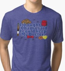 Matt Smith is leaving. Obama lied to us.  Tri-blend T-Shirt