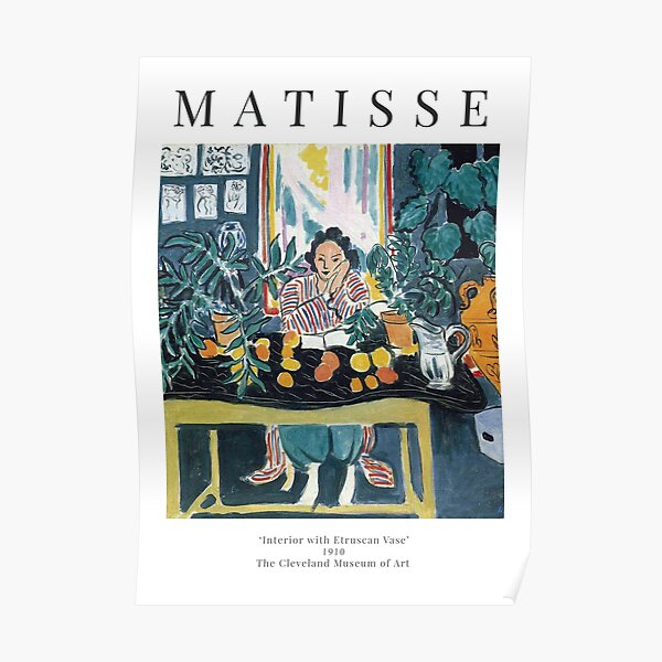 Henri Matisse - Interior with Etruscan Vase - Exhibition Poster Poster