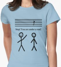 Funny Music Joke T-Shirt Fitted T-Shirt