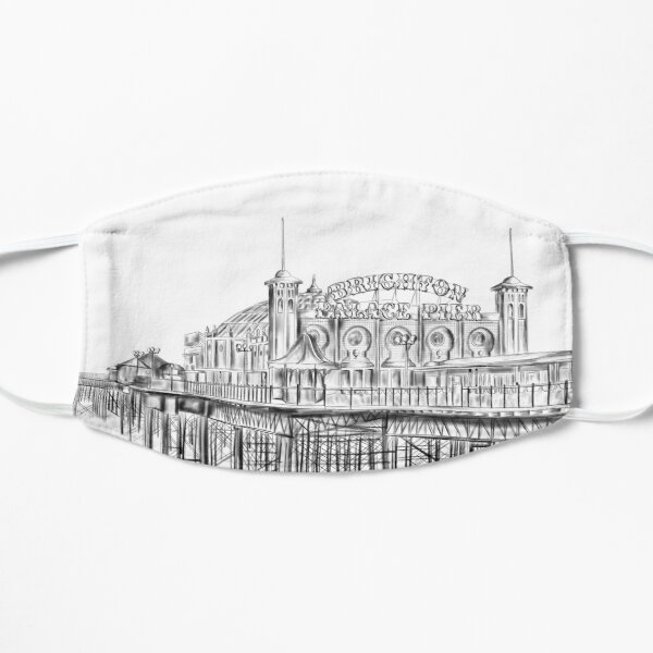 Brighton Pier illustration - Brighton Palace Pier Mask