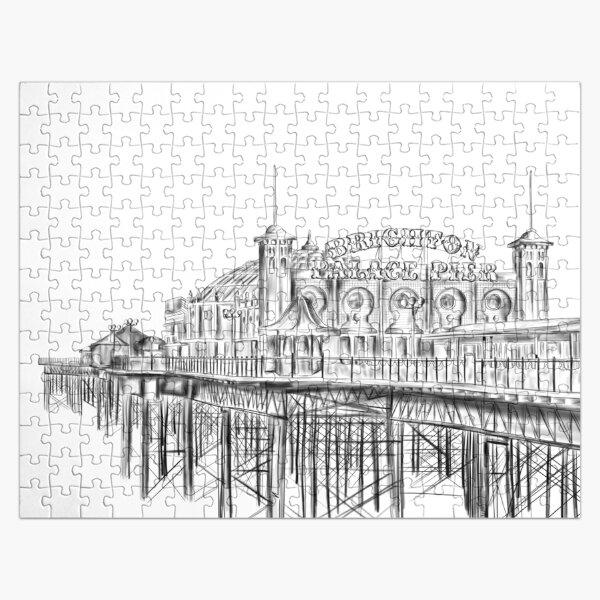 Brighton Pier illustration - Brighton Palace Pier Jigsaw Puzzle