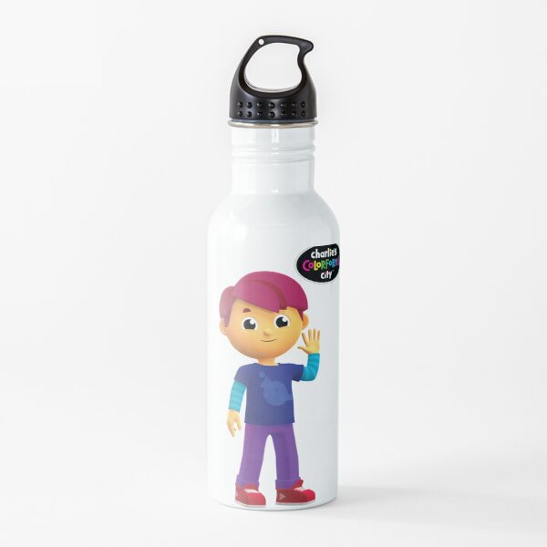 Charlie's Colorforms City - Red Water Bottle