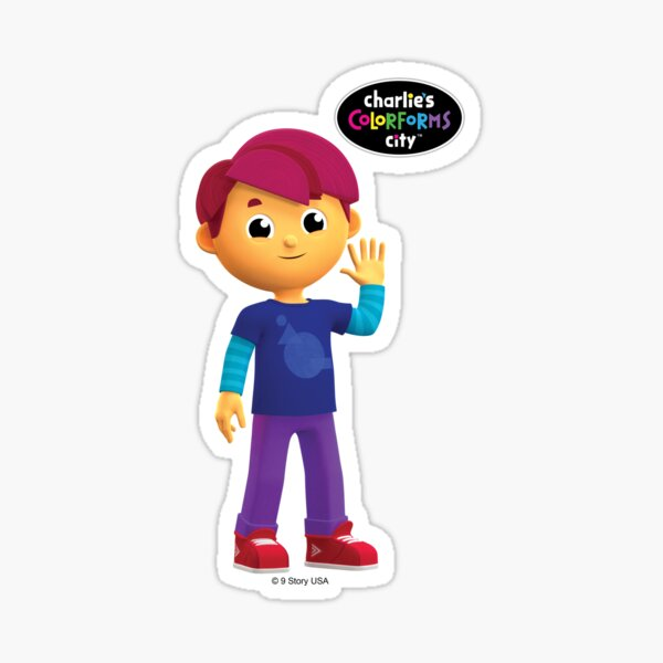 Charlie's Colorforms City - Red Sticker
