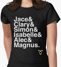 TMI main characters Women's Fitted T-Shirt