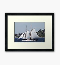First Bright, Sunny, Spring Day on Commencement Bay Framed Print