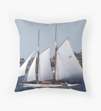 First Bright, Sunny, Spring Day on Commencement Bay Throw Pillow