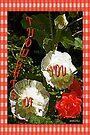 Hollyhocks and Roses by Terri Chandler