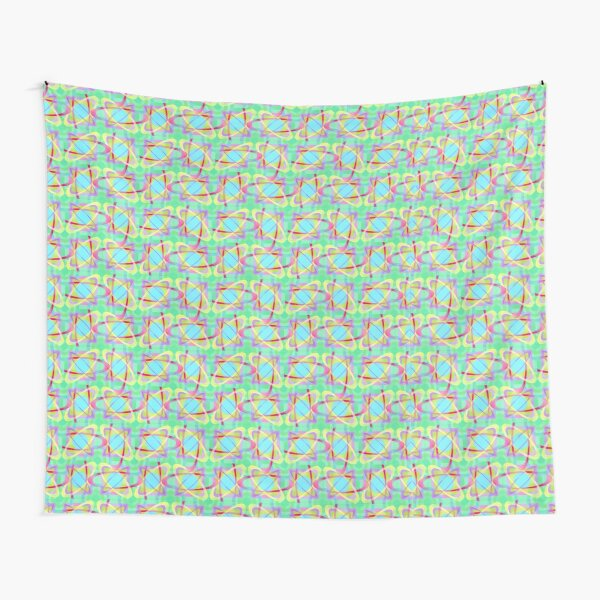 Bright Abstract Geometric Tapestry