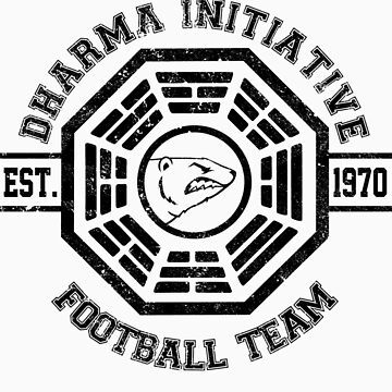 Dharma Initiative Football Team (Black Ver.) by MalvadoPhD