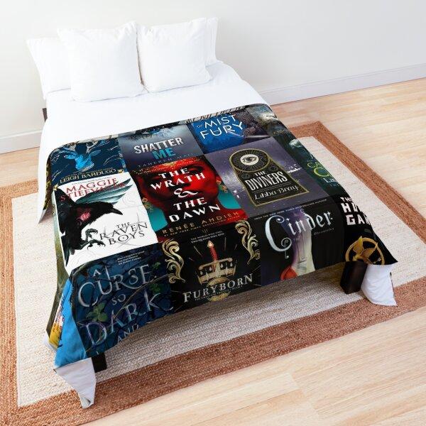 Popular ya fantasy book cover collage Comforter