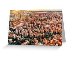 Bryce Point Sunset Greeting Card