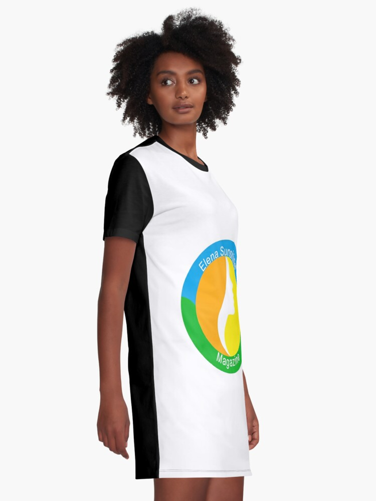 Alternate view of Elena Sunshine Magazine Graphic T-Shirt Dress