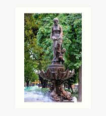 Fuente de Linares........Chile. Art Print