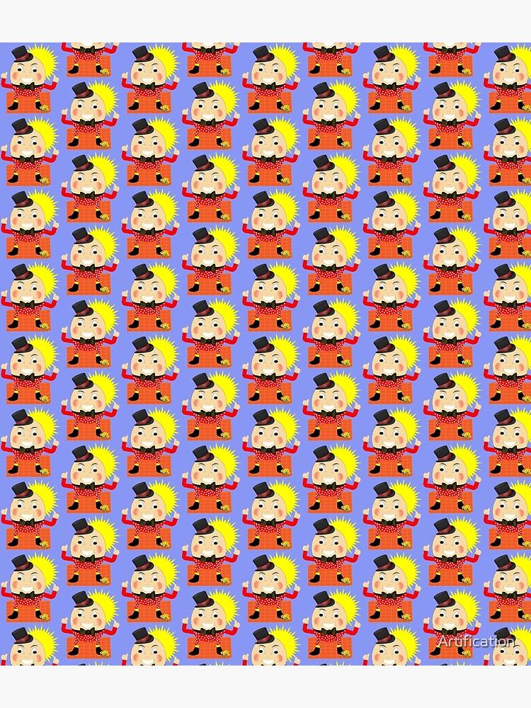 Humpty Dumpty Sat On A Wall Cute Kids Nursery Rhyme Character by Artification