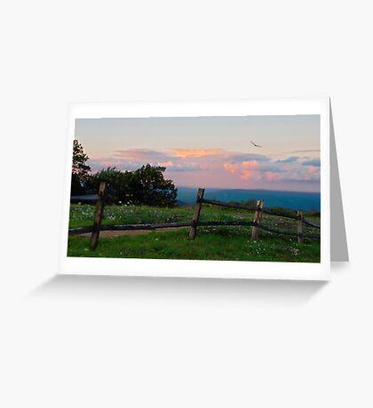 Evening Twilight Fades Greeting Card
