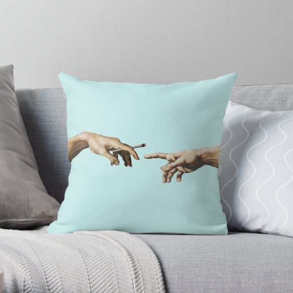Creation of Adam- joint pass Throw Pillow