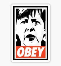 Merkel OBEY Sticker