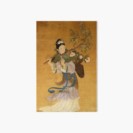 Magu Deity Medieval Chinese Scroll Painting Art Board Print