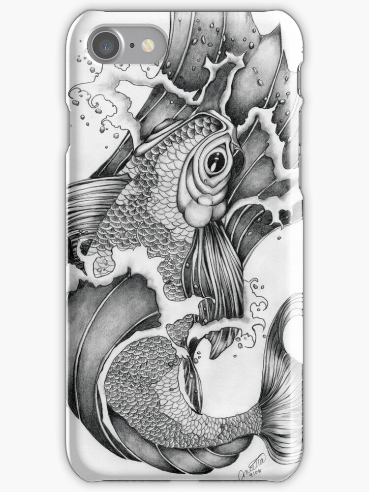 Koi in Graphite by Concetta Kilmer